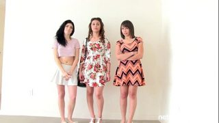 3 best friends – 1 audition,tight pussy babes bouncing on a huge cock