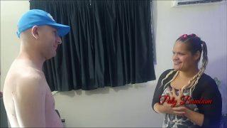 Horny couple having hardcore sex at home