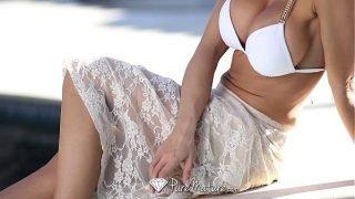 Sexy Capri Cavanni loses her bikini with the poolboy – PureMature