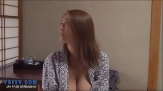 Tanline Jap MILF massage fuck by lover
