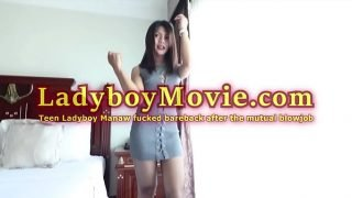 Teen Ladyboy Manaw Licked And Fucked