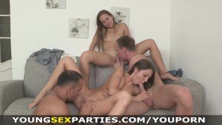 Young Sex Parties – Teen sluts fucked head to head